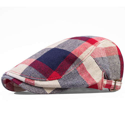 YIRANSHINI Vintage Plaid Scottish Duckbill Cap*