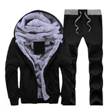 Thick Winter Cotton and Velvet Elastic Running Suit