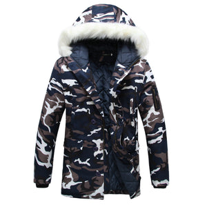 Thick Winter Hooded Camouflage Mens Parka* (S-5XL)