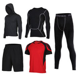 Mens Elastic Compression Fitness Sports Suits