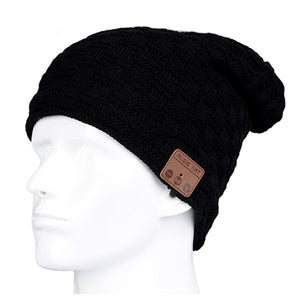 Beanie Hat- Wireless Bluetooth Earphone_ Smart Headset Speaker Mic Stereo Hat