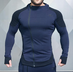 Mens Casual Hooded Zipper Sweatshirt