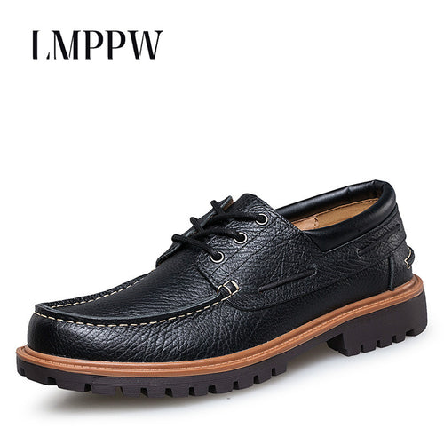 Mens Handmade Casual Leather British Style Brogue Shoes