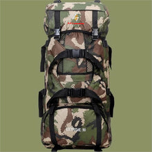 Load image into Gallery viewer, High Capacity Waterproof Camouflage Hiking Backpack