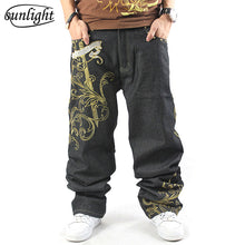Load image into Gallery viewer, Relaxed Casual Mult-Pocket Denim Baggy Skater Jeans