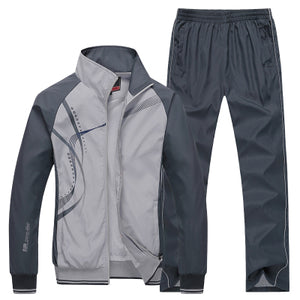 Men's Sports Suits- breathable Pants Jackets- Running Tracksuits Fitness Gym