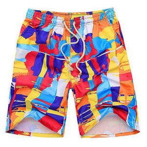 MENS FLORAL PATTERN PRINT QUICK DRYING SURF BOARD SHORTS
