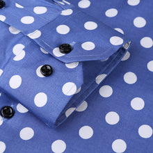Load image into Gallery viewer, Long Sleeve Big Polka-Dot Dress Shirt-Slim Fit 97% Cotton