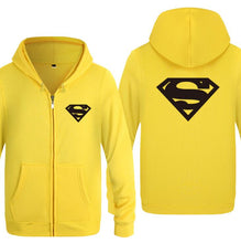Load image into Gallery viewer, Casual Hooded Superman Print Sweatshirt