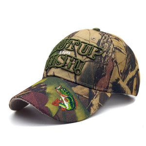 Embroidered Hunting And Fishing Camo Hat