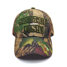 Load image into Gallery viewer, Embroidered Hunting And Fishing Camo Hat