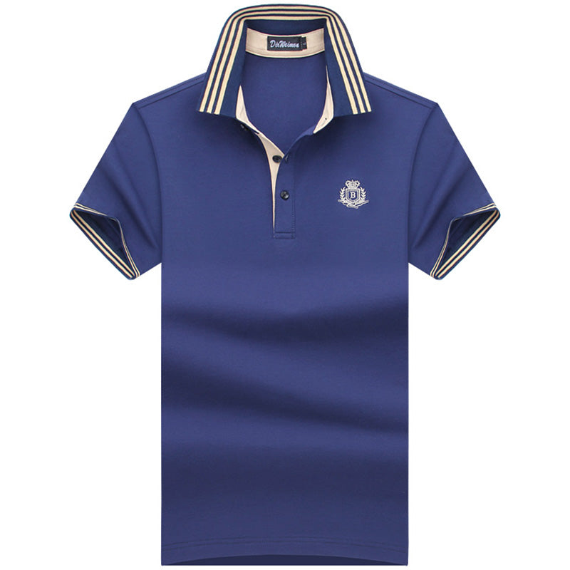 Mens Classic Short Sleeve Solid Color Polo Style Shirt* (S-10XL)