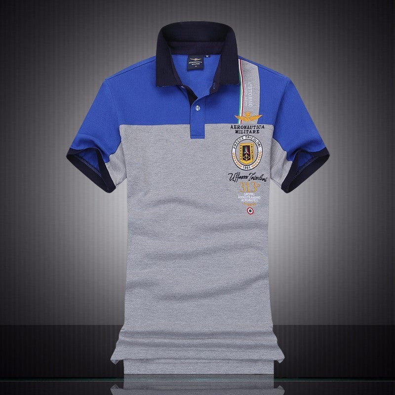 Mens Slim Lapel Short Sleeve Embroidered Polo* (M-2XL)