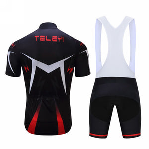 MENS SUMMER SHORT SLEEVE GEL PADDED BIKE SUIT (SHORT)