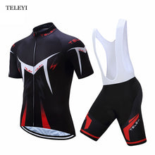 Load image into Gallery viewer, MENS SUMMER SHORT SLEEVE GEL PADDED BIKE SUIT (SHORT)