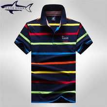 Load image into Gallery viewer, Men's Striped Cotton Breathable Polo Style Shirt