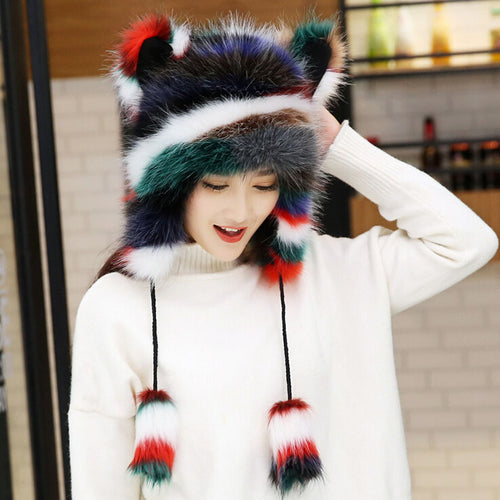 Women's Faux Fur Novelty Cartoon/Party Bomber Hats