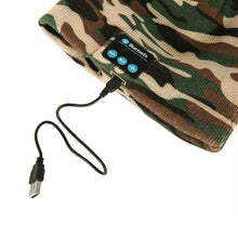 Load image into Gallery viewer, Winter Bluetooth 3.0 Hat- USB Beanie Camouflage Wireless Headset