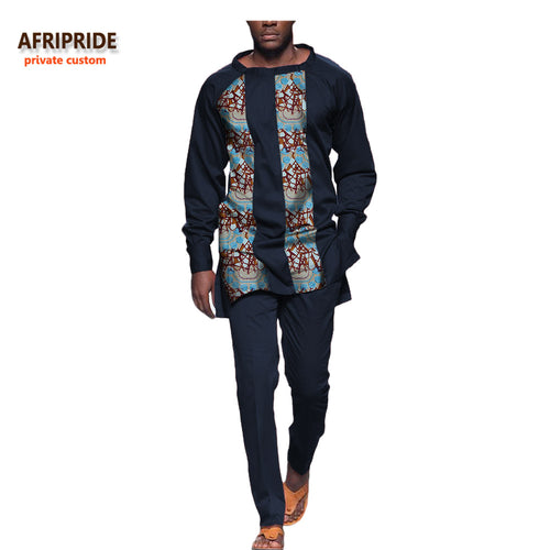 2-Piece Full Sleeve African Print Dashiki Suit*