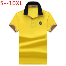 Load image into Gallery viewer, Mens Regular Slim Lapel Embroidered Polo Style Shirt