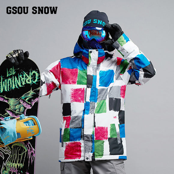 Mens Wind And Waterproof Super Warm Ski/Snowboard Suit