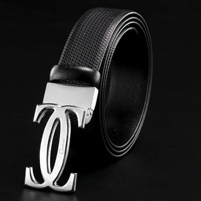 Genuine Leather Brass Buckle Leather Belt