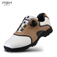 Load image into Gallery viewer, Mens Genuine Cowhide Leather Slip-On Golf Shoes