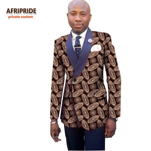 Custom Made Bazin Riche African Print Dinner Jacket