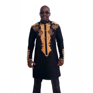 Long African National Style Dashiki Shirt