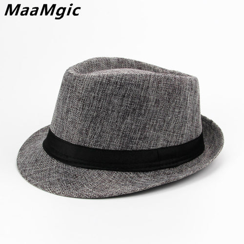 English Style Solid Pattern All Season Fedora with Satin Ribbon