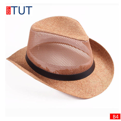 Spring and Summer Casual Breathable Mesh Cowboy Hat*