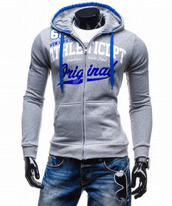 Zipper Hoodie Sweatshirt Slim Fit
