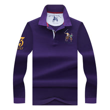 Load image into Gallery viewer, Long Sleeve Breathable Embroidered Polo Style Shirt