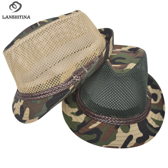 Breathable Mesh Outdoor Camouflage Fedora