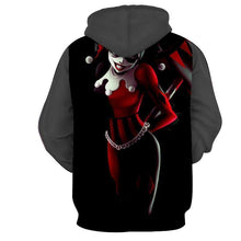 Load image into Gallery viewer, Mens 3D Hooded Black HARLEY QUINN Hoodie* (S-5XL)