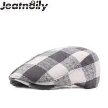 Load image into Gallery viewer, Vintage Large Plaid Pattern Adjustable Cotton Wild Beret*