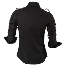 Load image into Gallery viewer, Long Sleeve Slim Fit Korean Style Dress Shirt