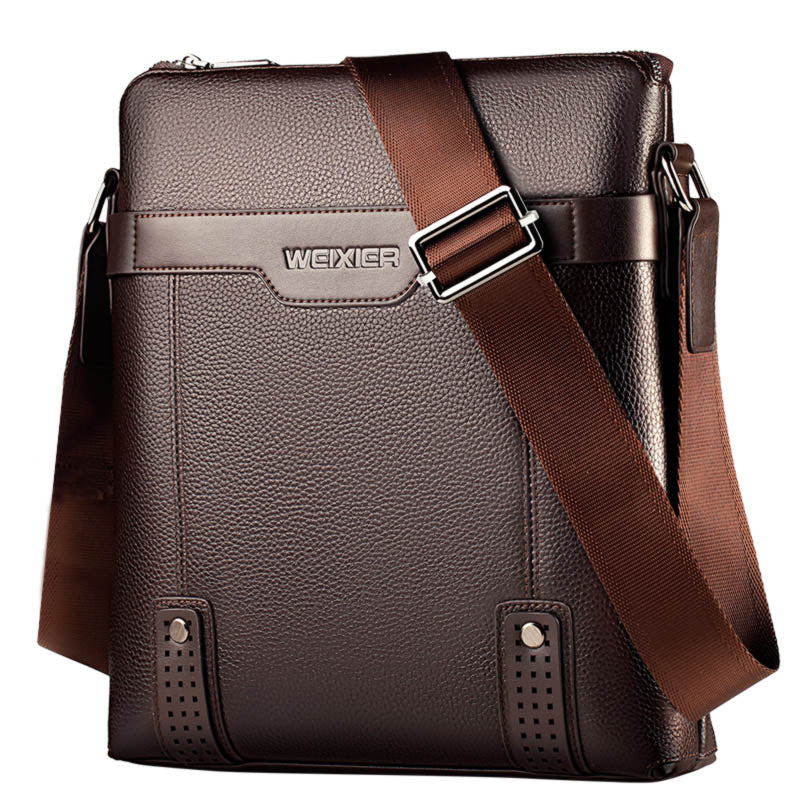 LEINASEN Casual Leather Business Crossbody Messenger bag*