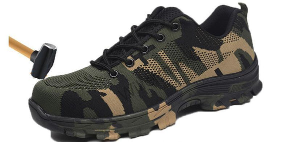 Steel-Toe Camouflage Shoes