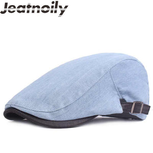 Retro Solid Color Pattern Winter Duckbill Hat* (55cm-60cm)