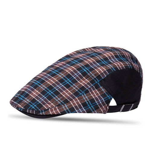 British Style All Season Adjustable Plaid Beret*