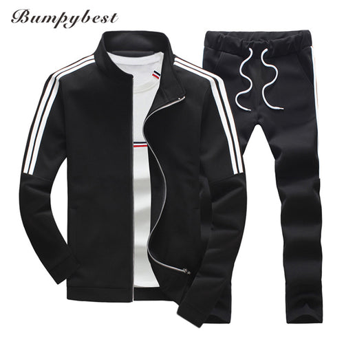 MENS SOLID PATTERN SLIM DRAWSTRING RUNNING SUIT