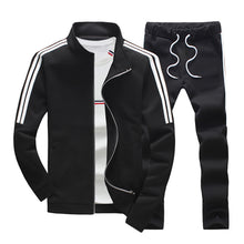 Load image into Gallery viewer, MENS SOLID PATTERN SLIM DRAWSTRING RUNNING SUIT