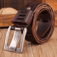Load image into Gallery viewer, PIBAINEED Thick Genuine Cowskin Leather Belt with Pin Buckle*