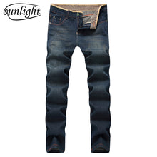 Load image into Gallery viewer, Retro Straight Leg Distressed Denim Jeans