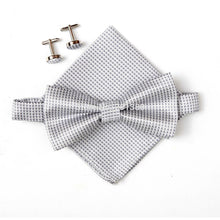 Load image into Gallery viewer, Mens PLaid 3-Piece Bow Tie Set
