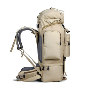 80L Waterproof Hiking And Camping Travel Rucksack