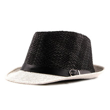 Load image into Gallery viewer, AETRENDS Summer Plaid Beach Fedora with Leather Buckle Strap
