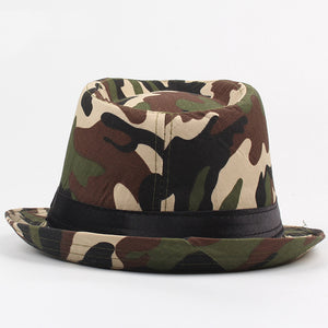 AETRENDS Summer Camouflage Panama Fedora