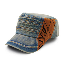 Load image into Gallery viewer, AETRENDS Vintage Denim Retro Design Military Flat Cap